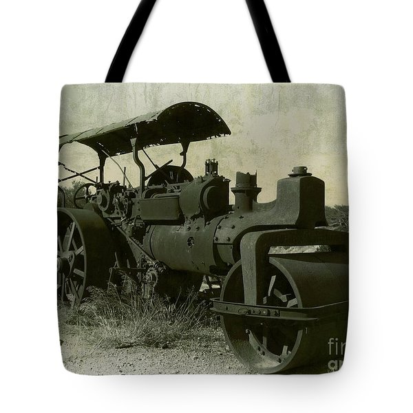 The Old Steam Roller Tote Bag by Christo Christov