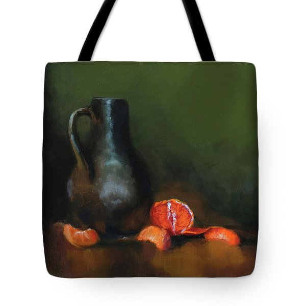 Tote Bag featuring the painting The Old Stoneware Mug by Barry Williamson