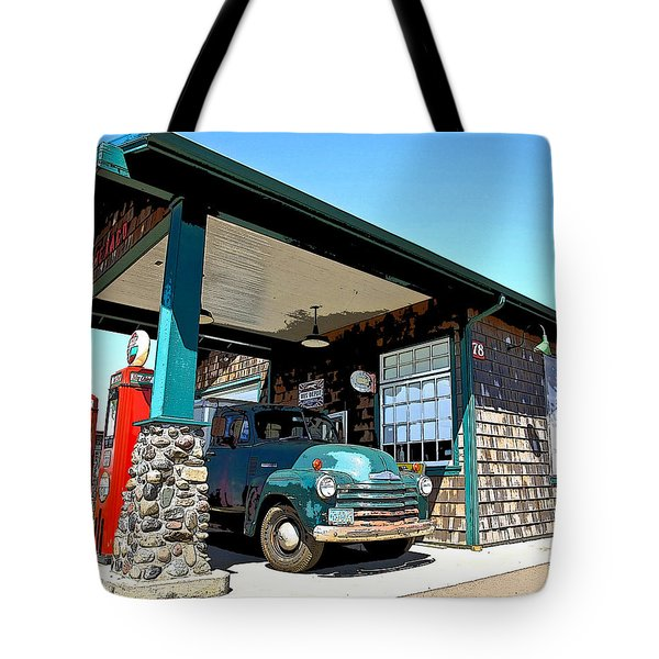 The Old Texaco Station Tote Bag