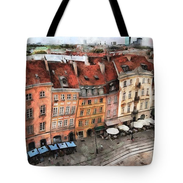 Old Town In Warsaw # 20 Tote Bag