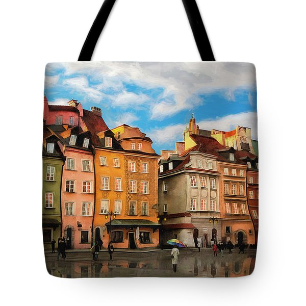 Old Town In Warsaw # 23 Tote Bag