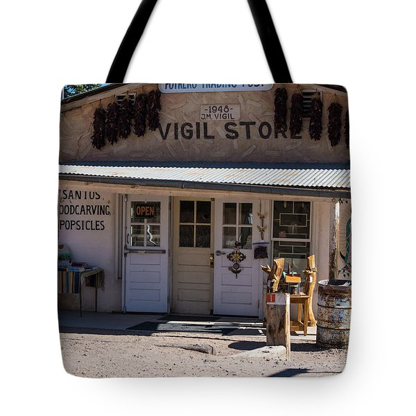 Old Vigil Store In Chimayo Tote Bag