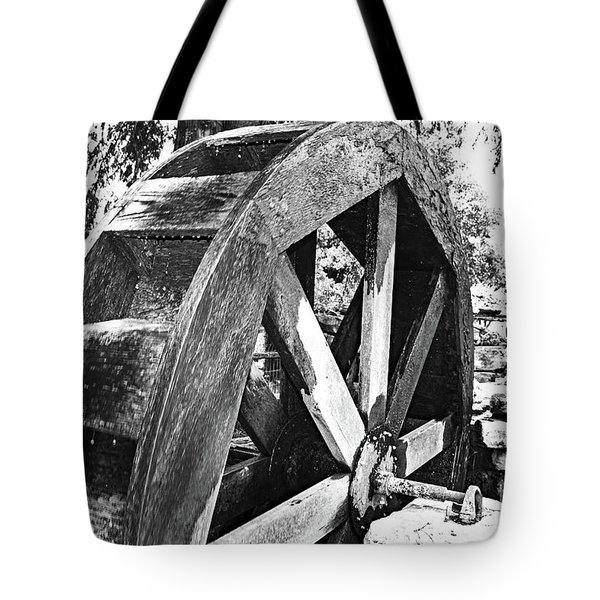The Old Waterwheel Tote Bag by Ray Shrewsberry