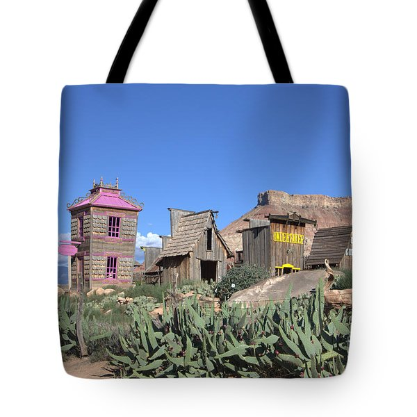 The Old Western Town  Tote Bag