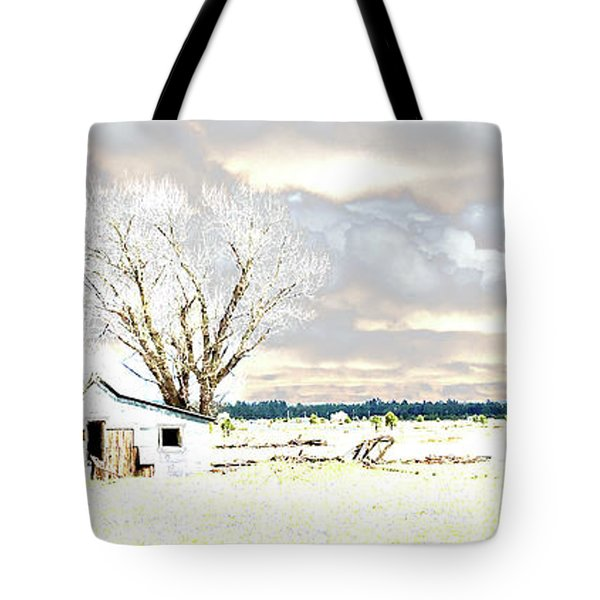 Tote Bag featuring the photograph The Old Winter Homestead by Beauty For God