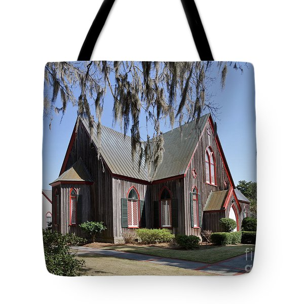 The Old Wooden Church Tote Bag by Louise Heusinkveld