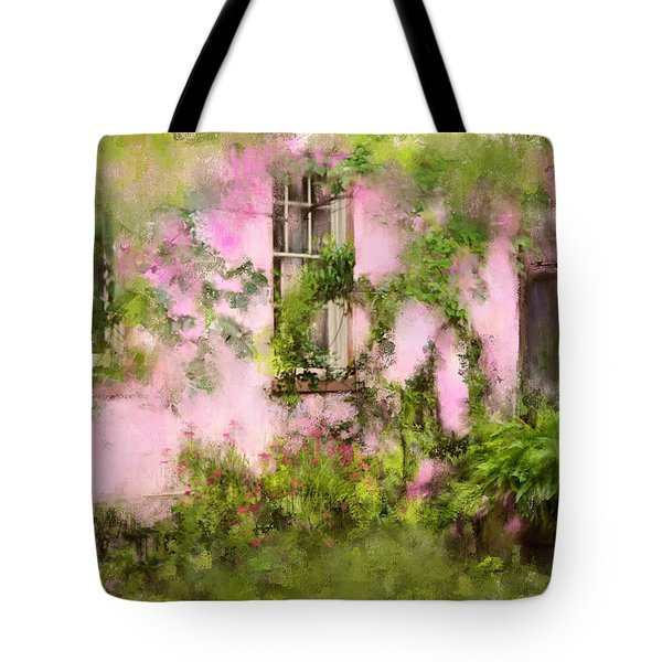 The Olde Pink House In Savannah Georgia Tote Bag