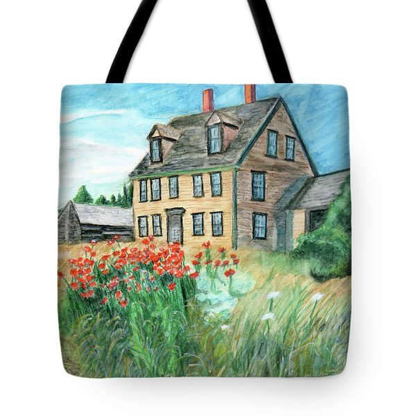 The Olson House With Poppies Tote Bag