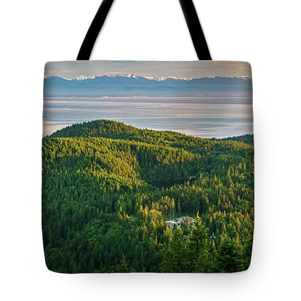 The Olympics From Mt Erie Tote Bag by Ken Stanback