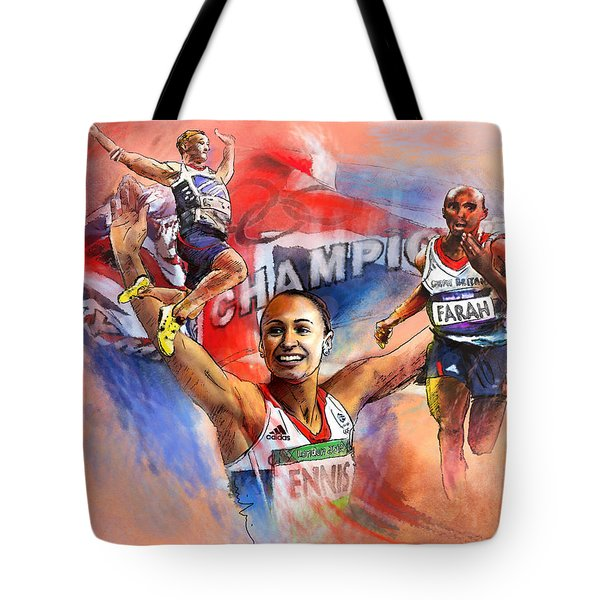 The Olympics Night Of Gold Tote Bag by Miki De Goodaboom