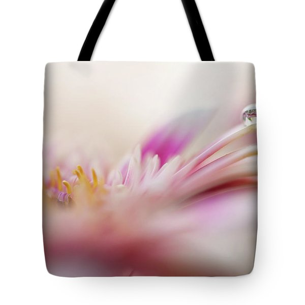 Tote Bag featuring the photograph The One. Macro Gerbera by Jenny Rainbow