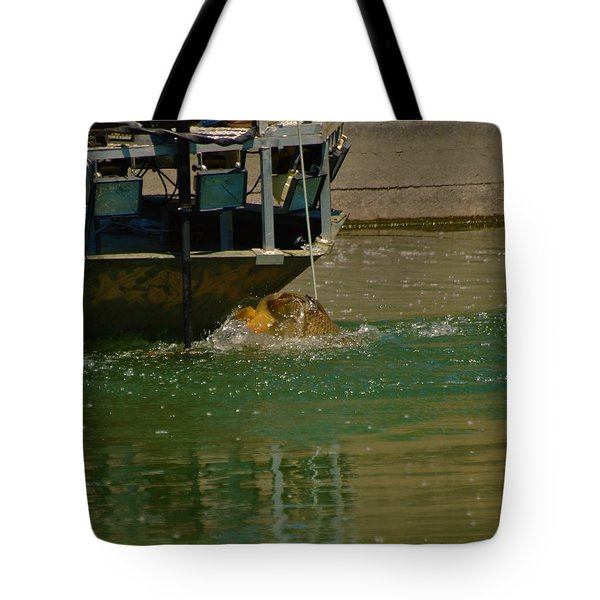 Tote Bag featuring the photograph The One That Got Away by Ramona Whiteaker