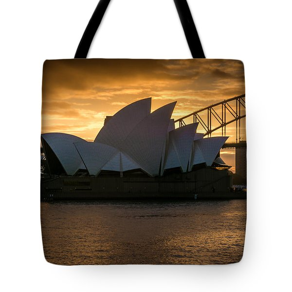 Tote Bag featuring the photograph The Opera House by Andrew Matwijec