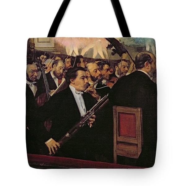 The Opera Orchestra Tote Bag by Edgar Degas