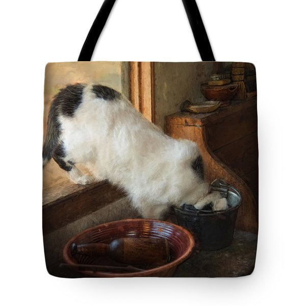 Tote Bag featuring the photograph The Opportunist by Robin-Lee Vieira