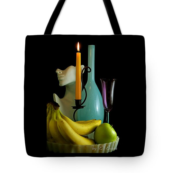 Tote Bag featuring the photograph The Orange Candle by Elf Evans