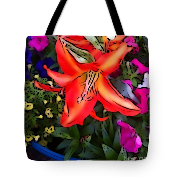 The Orange Flower Tote Bag