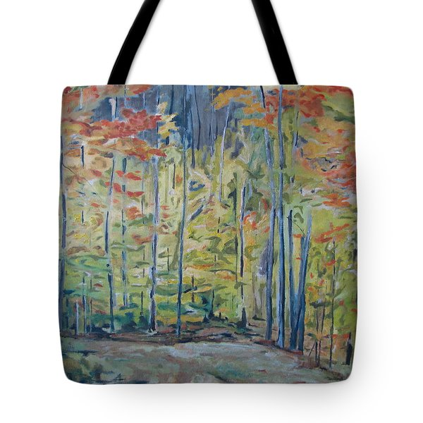 The Orange Maple Trees Tote Bag by Francois Fournier