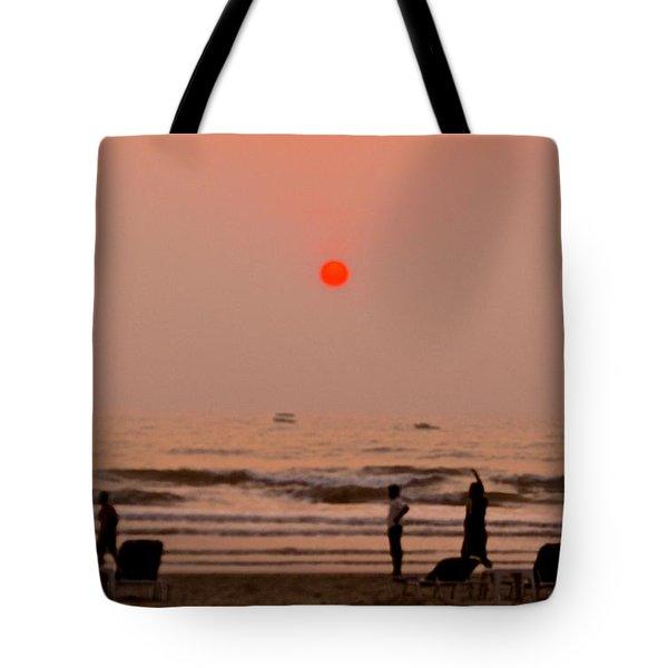 The Orange Moon Tote Bag