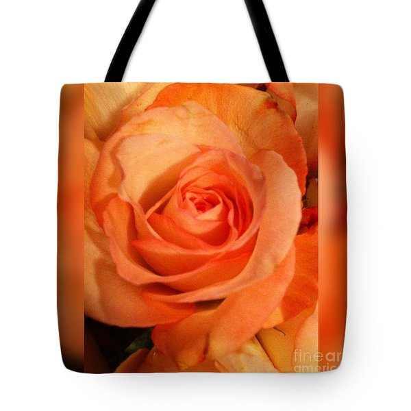 Tote Bag featuring the digital art The Orange Rose  by Gayle Price Thomas