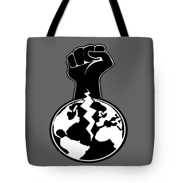 Tote Bag featuring the digital art The Orchestrator Fist by Jayvon Thomas