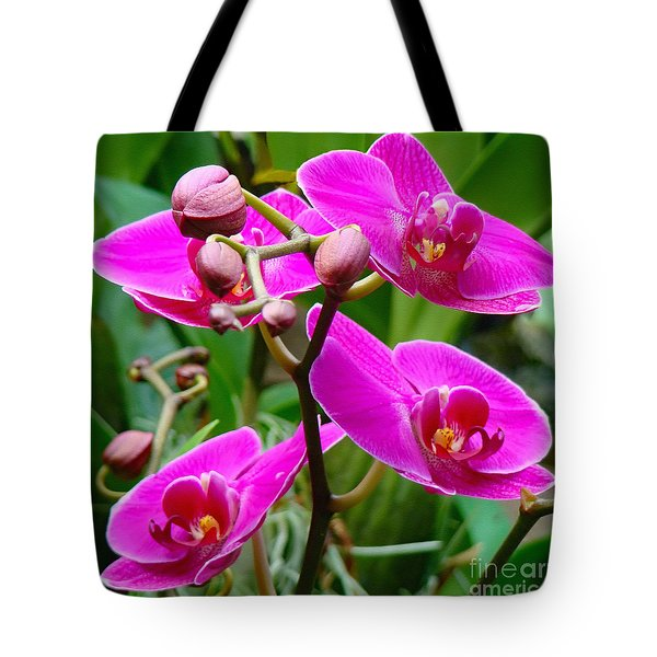 Tote Bag featuring the photograph The Orchid Dance by Sue Melvin
