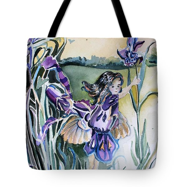 Tote Bag featuring the painting The Orchid Fairy by Mindy Newman