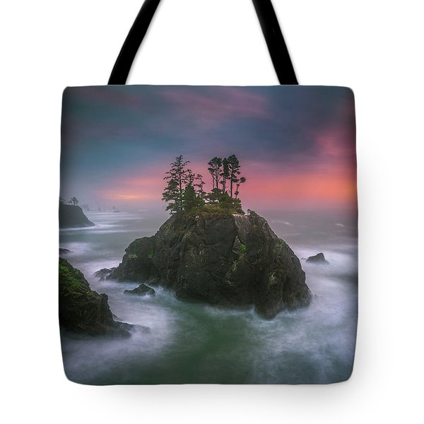 Tote Bag featuring the photograph The Oregon Coast Sunset by William Lee