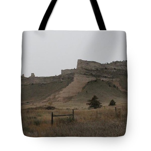 The Oregon Trail Scotts Bluff Nebraska Tote Bag