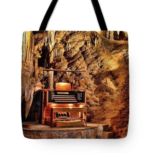 Tote Bag featuring the photograph The Organ In Luray Caverns by Paul Ward