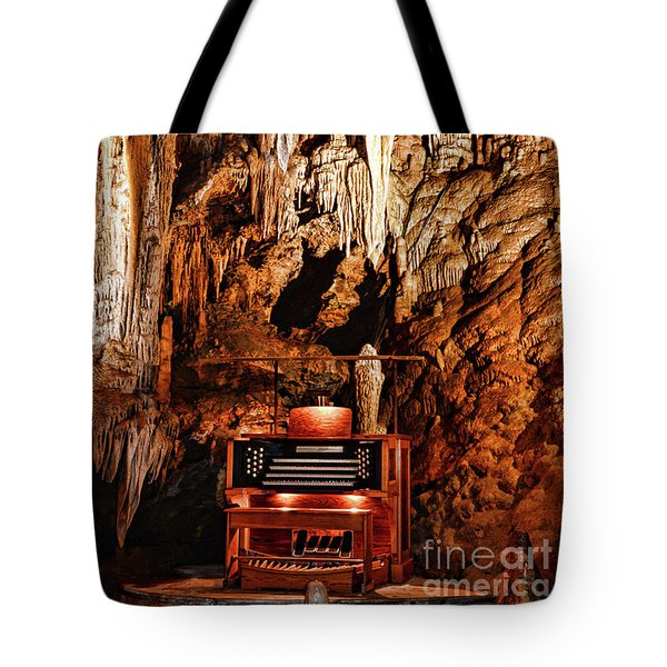 The Organ In The Cavern Tote Bag by Paul Ward