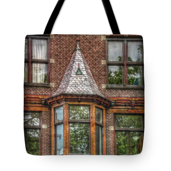 Tote Bag featuring the photograph The Oriel by Hanny Heim