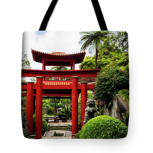 The Oriental Gate To Happiness Tote Bag