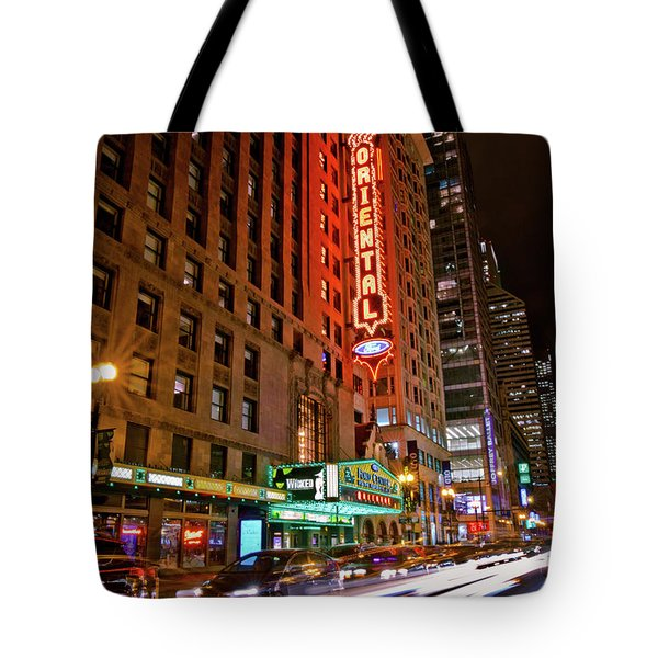 The Oriental Theater Chicago Tote Bag