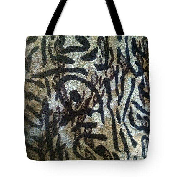 Tote Bag featuring the photograph Abstract  Oriental Zebra By Sherriofpalmsprings by Sherri  Of Palm Springs