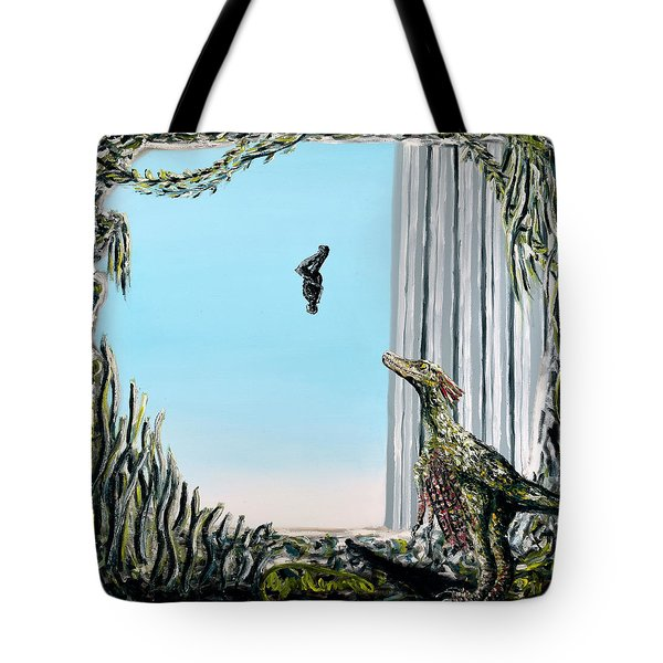 Tote Bag featuring the painting The Origin Of Species -a Recurring Pattern- by Ryan Demaree