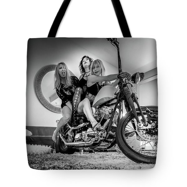 Tote Bag featuring the photograph The Original Troublemakers- by JD Mims