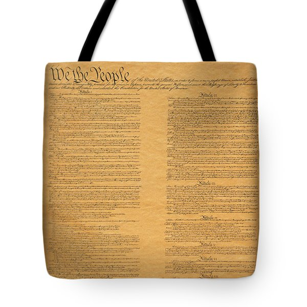 The Original United States Constitution Tote Bag
