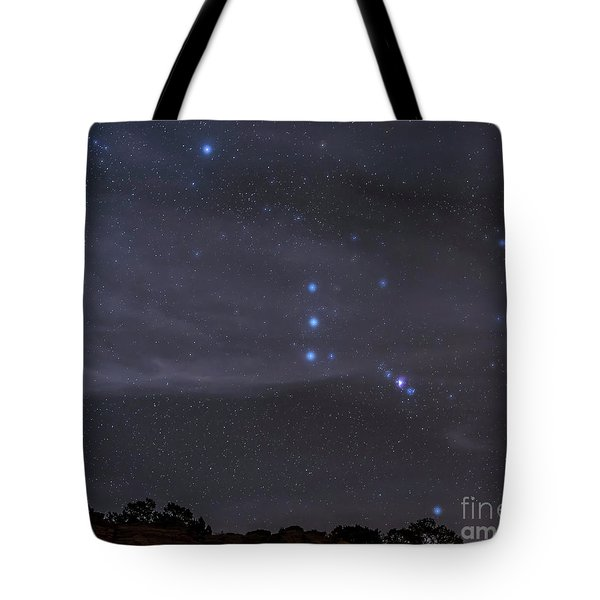 The Orion Constellation Rises Tote Bag by John Davis