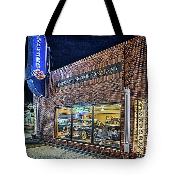 The Orphan Motor Company Tote Bag