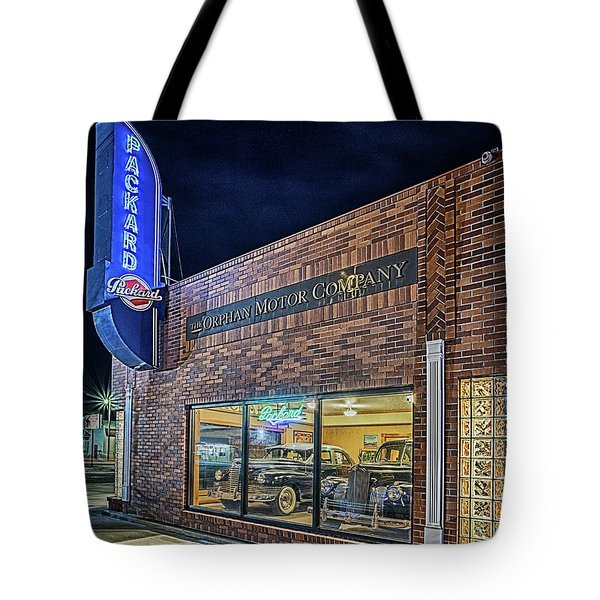 The Orphan Motor Company Tote Bag