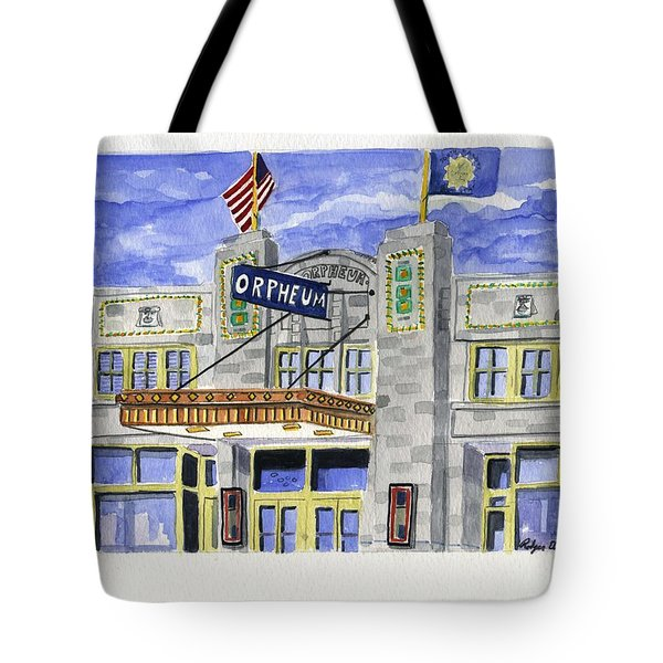 The Orpheum Tote Bag by Rodger Ellingson