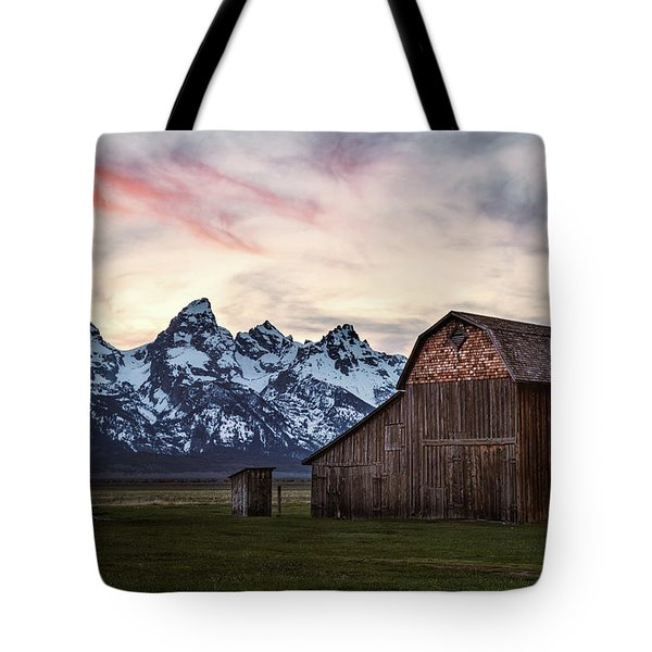 Tote Bag featuring the photograph The Other Moulton Barn by Laura Roberts
