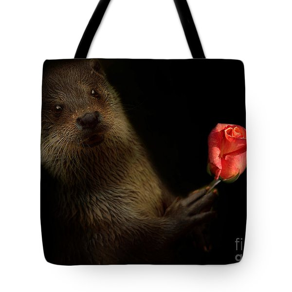 Tote Bag featuring the photograph The Otter by Christine Sponchia