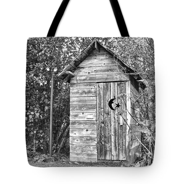 The Outhouse Bw Tote Bag
