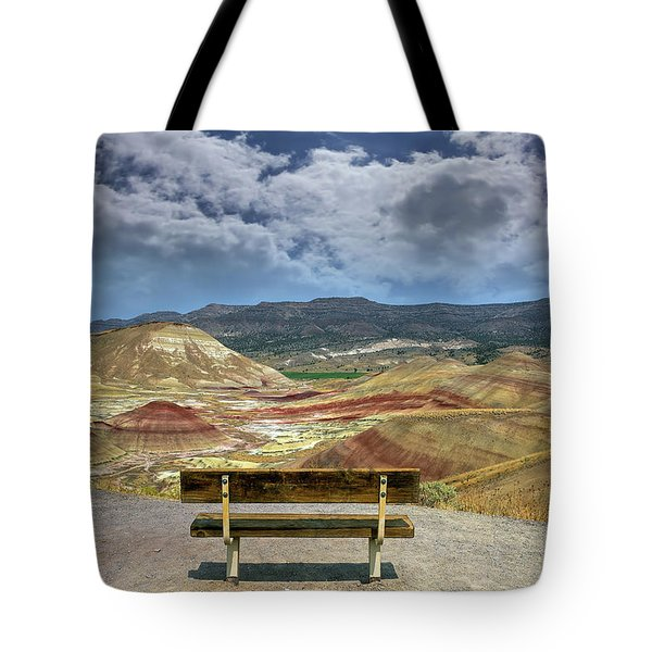 The Overlook At Painted Hills In Oregon Tote Bag
