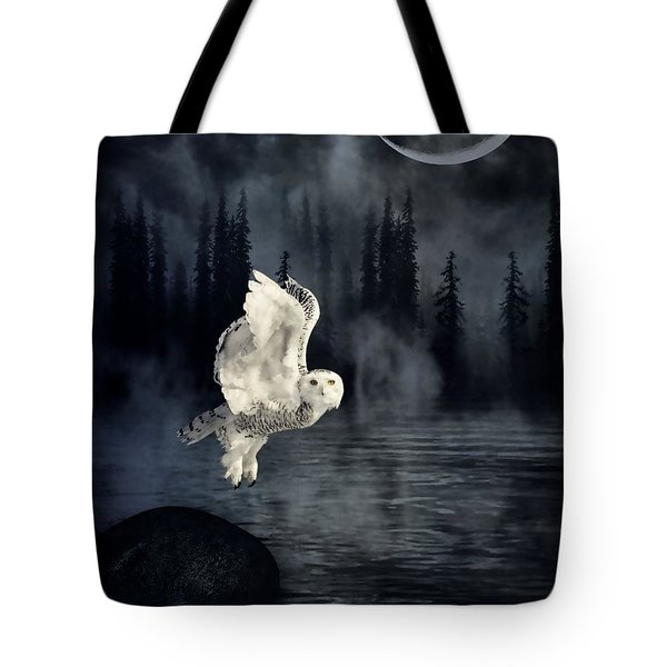 The Owl And Her Mystical Moon Tote Bag by Heather King