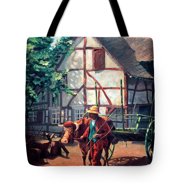 The Ox Cart Tote Bag by Hanne Lore Koehler