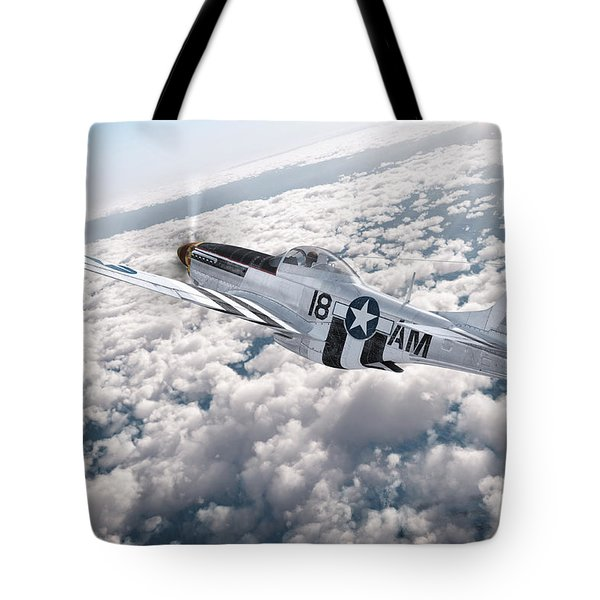 The P-51 Mustang Tote Bag by David Collins