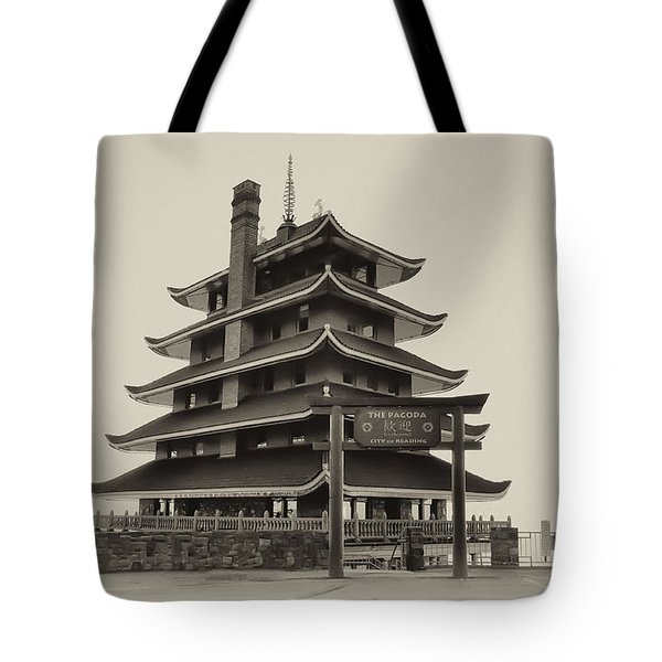 The Pagoda - Reading Pa. Tote Bag by Bill Cannon